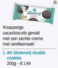 Ah glutenvrij double cookies-Huismerk - Albert Heijn