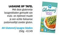 Ah glutenvrij lasagne bladen-Huismerk - Albert Heijn