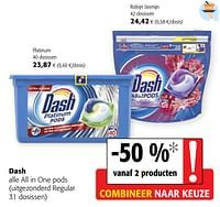 Dash alle all in one pods-Dash
