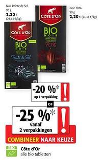 Côte d`or alle bio tabletten-Cote D