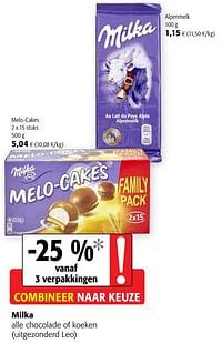 Milka alle chocolade of koeken-Milka