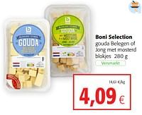 Boni selection gouda belegen of jong met mosterd-Boni