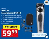 Braun haar- en baardtrimmer bt7940-Braun