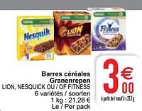 Barres céréales granenrepen lion, nesquick ou - of fitness-Nestlé