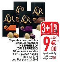 Capsules compatibles caps compatibel nespresso l`or espresso-Douwe Egberts