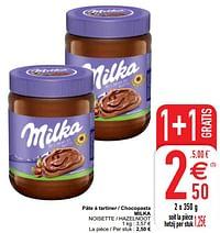 Pâte à tartiner - chocopasta milka noisette - hazelnoot-Milka