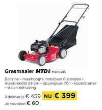 Grasmaaier mtd mtd53bs-MTD