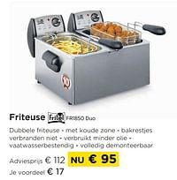 Friteuse fritel fr1850 duo-Fritel