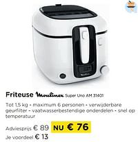 Friteuse moulinex super uno am 31401-Moulinex