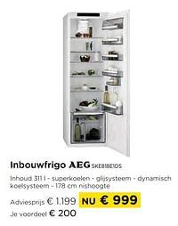 Inbouwfrigo aeg ske818e1ds-AEG