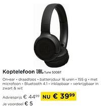 Koptelefoon jbl tune 500bt-JBL