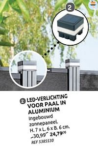 Ledverlichting voor paal in aluminium-Huismerk - Brico