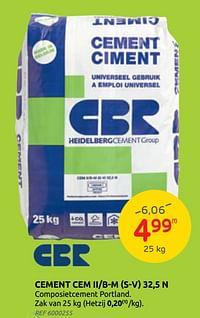 Cement cem ii-b-m (s-v) 32,5 n cbr-CBR