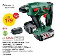 Bosch snoerloze boorhamer op accu uneo maxx systembox-Bosch