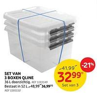Set van 3 boxen qline-Q-line
