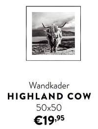 Wandkader highland cow-Huismerk - Ygo