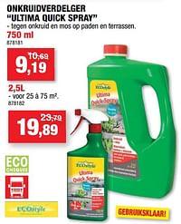Onkruidverdelger ultima quick spray-Ecostyle