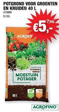 Potgrond voor groenten en kruiden-Agrofino