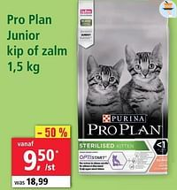 Pro plan junior kip of zalm-Purina