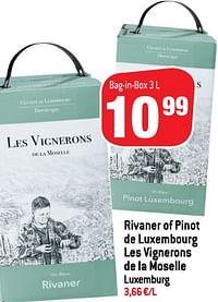 Rivaner of pinot de luxembourg les vignerons de la moselle luxemburg-Witte wijnen