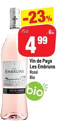 Vin de pays les embruns rosé bio-Rosé wijnen