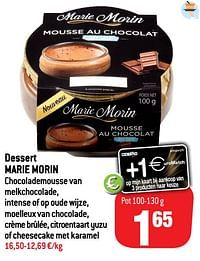 Dessert marie morin-Marie Morin