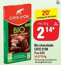 Bio chocolade cote d`or-Cote D