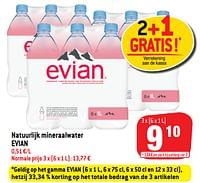 Natuurlijk mineraalwater evian-Evian