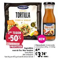 Santa maria mini tortilla corn + wheat-Santa Maria