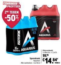 Sportdrank aquarius blue ice-Aquarius