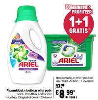 Ariel power vloeibaar, color reveal-Ariel