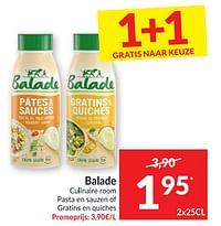 Balade culinaire room pasta en sauzen of gratins en quiches-Balade