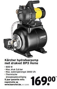 Kärcher hydrofoorpomp met drukvat bp3 home-Kärcher