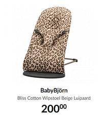 Babybjörn bliss cotton wipstoel beige luipaard-BabyBjorn