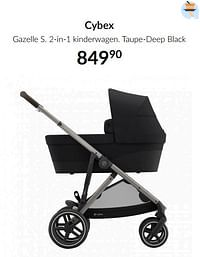 Cybex gazelle s 2-in-1 kinderwagen taupe-deep black-Cybex