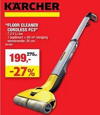 Kärcher floor cleaner cordless fc3-Kärcher