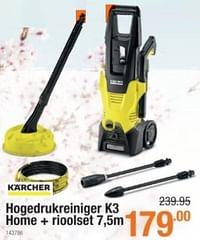 Karcher hogedrukreiniger k3 home + rioolset-Kärcher