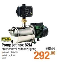 Dab pomp jetinox 82 m presscontrol zelfaanzuigeng-Dab