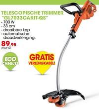 Black + decker telescopische trimmer gl7033cakit-qs-Black & Decker