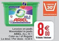 Lessive en pods wasmiddel in pods ariel all in 1-Ariel