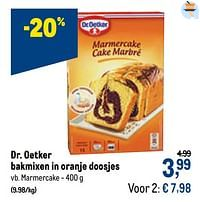 Dr. oetker bakmixen in oranje doosjes marmercake-Dr. Oetker
