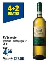 Ca`ernesto trentino - pinot grigio `17-Witte wijnen
