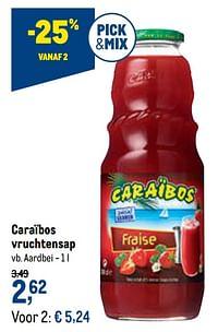 Caraïbos vruchtensap Aardbei-Caraibos
