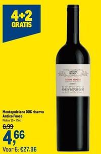 Montepulciano doc riserva antico fuoco-Rode wijnen