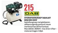 Dab hydrofoorgroep aquajet 82m-20h gws-Dab