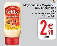 Mayonnaise - mayonaise ou - of dressing d+l-Devos Lemmens