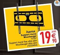 Hama support mural muurbeugel 11757-Hama