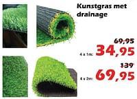 Kunstgras met drainage-Huismerk - Itek