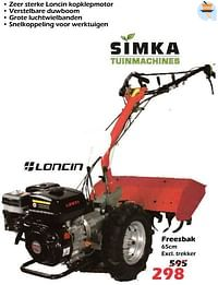 Simka tuinmachines freesbak-Simka Tuinmachines