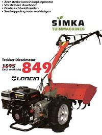 Simka tuinmachines trekker dieselmotor-Simka Tuinmachines